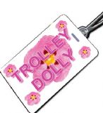 TROLLEY DOLLY Pink Crew Tag